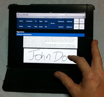 Electronic Signatures On Any Touchscreen Device